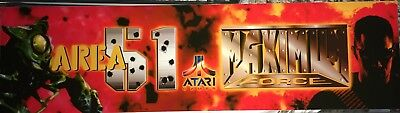 "Area 51 Maximum Force Arcade Marquee 28"" x 7.5"""