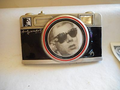 Vntg. Andy Warhol Camera Belt Buckle - W/Warhol's 3D Picture