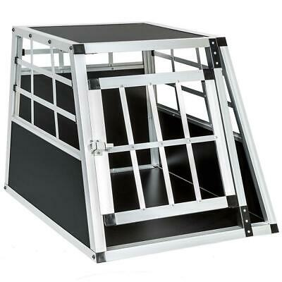 Cage box caisse de transport chien mobile aluminium single Helloshop26 3708001