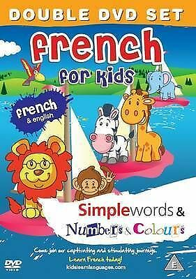 French For Kids Dvd Set: Simple Words & Number And Colours 2011 New Dvd