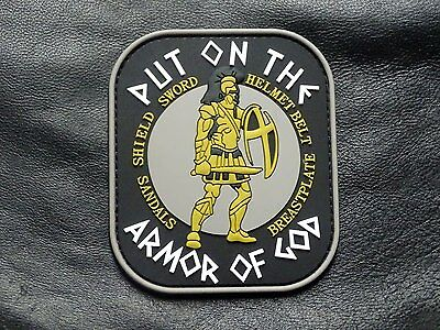 Put on the Full Armor of God 3D PVC Rubber Morale Hook Patch