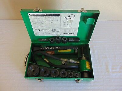 """Greenlee 7306 Knockout Hydraulic Punch 1/2""""-2"""" With 767 foot pump"""