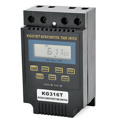 """1 piece Black AC/DC12V 25A KG316T 2""""LCD Microcomputer Timer Switch"""