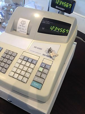Sharp XE-A202 Entry Level Cash Register White,Twin display screens