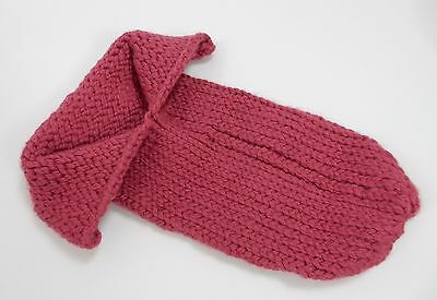 Baby Newborn Photography Prop Crocheted Knit Pink Cocoon Bag Boy Girl