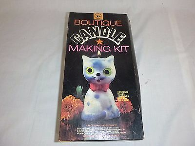 NOS Vtg 60s Boutique Candle Making Kit Super Cute Kitten Kitty Cat Pastime Ind.