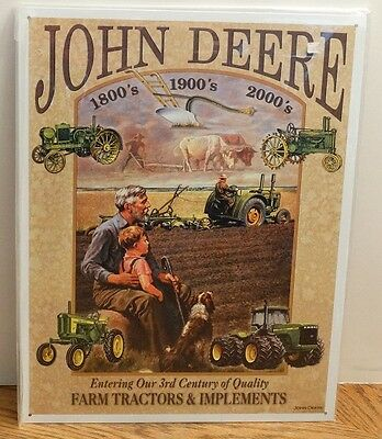 NEW John Deere Tin Metal Wall Sign Plaque 3rd Century of Quality