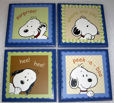 Snoopy Peek  A Boo (4)    Wall Plaque's