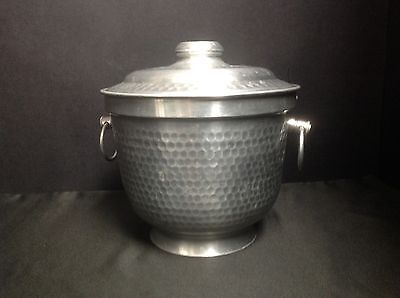 Vintage Aluminum Hammered Double Ice Bucket made in Italy
