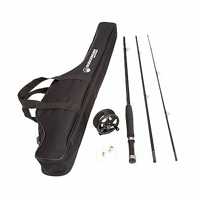 Wakeman Charter Series Fly Fishing Combo with Carry Bag-Black