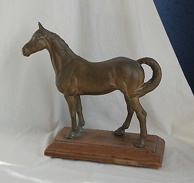 Antique Vintage Cast Metal Horse Equestrian Doorstop Statue