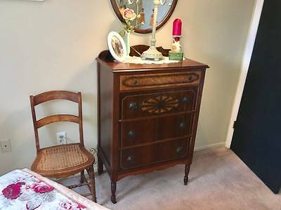 Antique Inlaid Deco Style Bedroom Set Lots of Pieces
