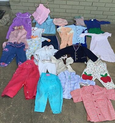 Vintage Lot 24 pieces of baby & Toddler clothes jumpers shirts