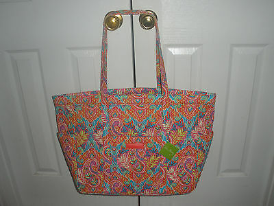 NWT Vera Bradley Get Carried Away Tote  PAISLEY IN PARADISE  BAG