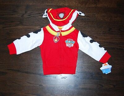 Paw Patrol zip hoodie with ears all sizes $38 price tag Nickelodeon licensed NWT