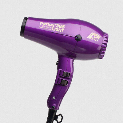 Parlux 385 Ceramic & Ionic Pro Hair Dryer Violet Hairdryer Salon Tool