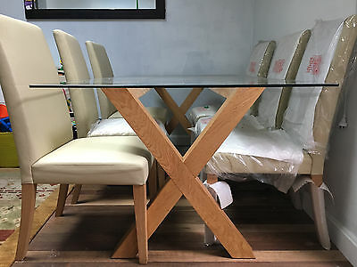 Freedom Glass table and 6 Leather seats