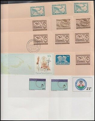 PAPUA NEW GUINEA PNG POSTAL STATIONERY PRE STAMPED ENVELOPES (x15)(ID:171/D45628