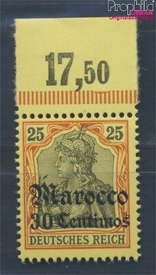 Dt. Post Marokko 25 postfrisch 1905 Germania-Aufdruck (8305215