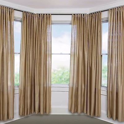 Umbra Loft Drapery Rod System for Bay Windows, Bronze, New in Opened Box