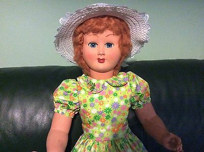Huge Vintage 1950s Hard Plastic Doll 33 Inches (83.7 cm) Tall.