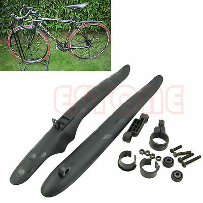 Cycling Bike Bicycle Front Rear Mud Guards Mudguard Fenders Set fr Mountain Road