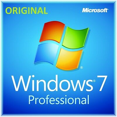 Microsoft Windows win 7 Pro professional 32 64 bit  ORIGINALE key