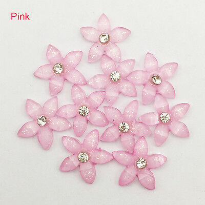 DIY 20pcs 12mm resin flowers flatback Scrapbooking for phone/wedding, Crafts