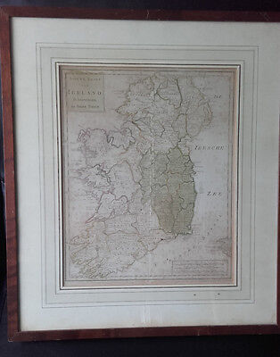 Antique map of Ireland circa 1750 by Isaak Tirion