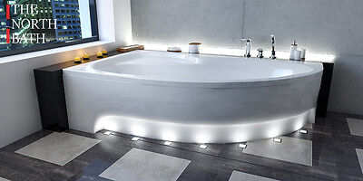 The North Bath Alice Eckbadewanne Eckwanne Eck Badewanne 150/160/170x100 Schürze