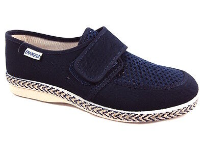 EMANUELA 5304 BLU PANTOFOLA UOMO MADE IN ITALY Tomaia di jeans in cotone - foder