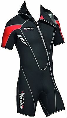 Mares Men's Flexa Core 5mm Shortie Wetsuit / Over-Jacket with attached DIVE hood