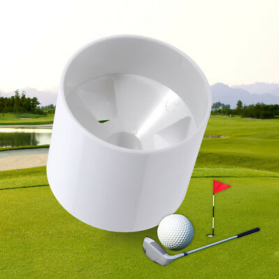 Durable White Backyard Practice Golf Hole Pole Flag Stick  Cup Putting Green EB
