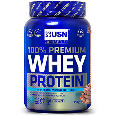 USN 100% Premium Whey 908g / 2.2kg / 2lbs / 5lbs - Whey Protein  Isolate