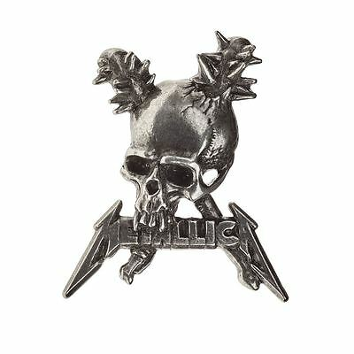 Alchemy Poker Metallica: Damage Inc. skull Pewter Pin Badge BRAND NEW