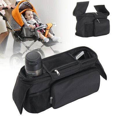Baby Pram Trolley Buggy Storage Bag Stroller Bottle Cup Pouch Holder Organizer