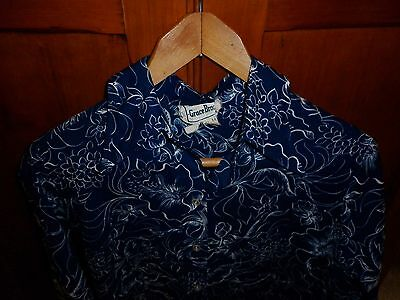 1970s VINTAGE WOMENS FLORAL PRINT SHIRT SIZE 14  IN EXCELLENT CONDITION