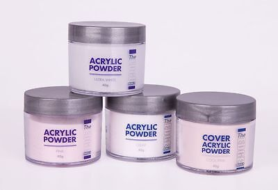 THE EDGE NAIL ACRYLIC POWDER - CLEAR PINK OR WHITE 40g  use with acrylic liquid