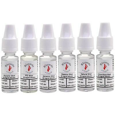 Nikotin Base Shot 20mg Riccardo 10,00€/100ml E-Liquid E-Zigarette Verdampfer TOP