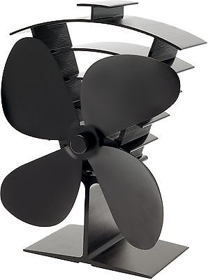 Valiant Premium IV 4-Blade Heat Powered Log Burner & Stove Fan (FIR361)