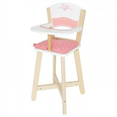 NEW Hape Baby Highchair - Girls Dolls Wooden High Chair Pretend Play Toy