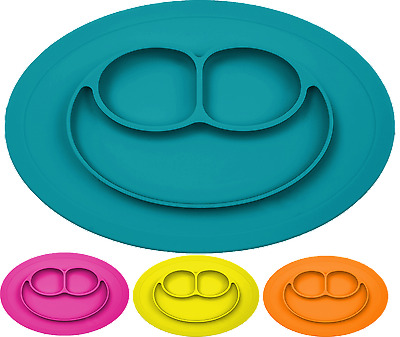 EZPZ Silicone Suction Placemat and Plate One-piece for kids, baby toddler
