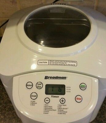 Breadman Deluxe Bread Maker TR555LC with LCD.