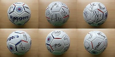 2016-17 Rangers Official Football Signed by 1st Team Squad (11011)