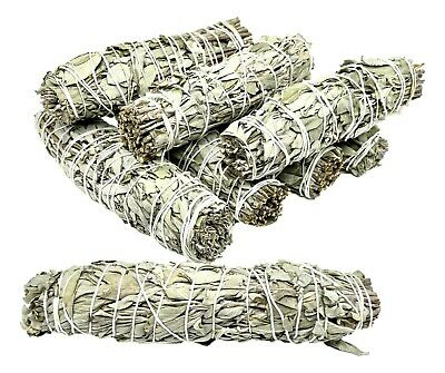 "White Sage Smudge Sticks 4-5"" Nature's Spirit Wands x 3  Smudging Wicca Pagan"