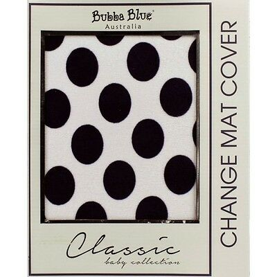 NEW Bubba Blue Polka Dots Change Mat Cover - Navy - Baby Boy Change Pad