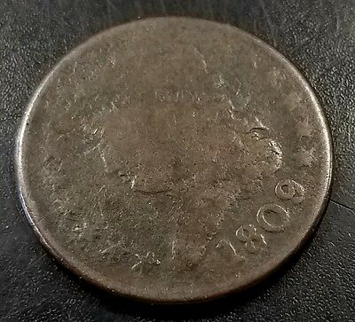 1809 Classic Head Half Cent! 1st year of the series! Guaranteed authentic!