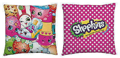 EXTRA LARGE - New Shopkins Super Soft Cushion / Pillow Girls Pink Bedroom Gift