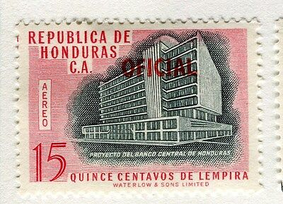 HONDURAS;   1956 early Pictorial OFICIAL AIR issue Mint hinged 15c. value