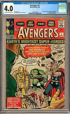 Avengers #1 CGC 4.0 (OW-W) Origin & 1st Appearance of the Avengers